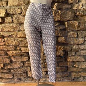 Banana Republic Printed Cotton Capri Pants Size 8